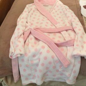 Ulta Beauty plush cozy pink polka dot robe S/M